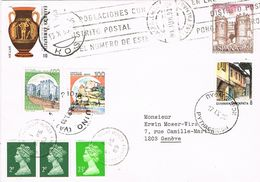 26931. Carta MASPALOMAS (Las Palmas) Canarias 1993 A Suiza. Matasellos Otros Paises - 1931-Hoy: 2ª República - ... Juan Carlos I