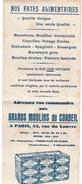 Buvard Pates Alimentaires Des Grands Moulins De Corbeil - Food