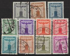 """Mi-Nr. 155/65""""Parteidienstmarken"""" Ohne Wasserzeichen, Komplett, O - Dienstpost"""