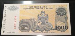 SERBIA  - 1000 DINARI - FIOR DI STAMPA - CARTAMONETA - PAPER MONEY - Serbie