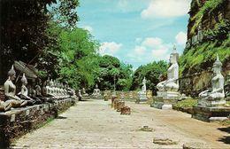 Thailandia (Thailand) The Remaining Buddha-Images In The Compound Of Wat Yai Chai Mongkhol In Ayudhaya Province - Tailandia