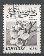 Nicaragua 1986. Scott #1515 (U) Bixa Orellana, Fleurs, Flowers - Nicaragua