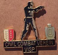 CIVIL COMBAT VERIEN VISP - VIEGE - CANTON DU VALAIS - SUISSE - SCHWEIZ - WALLIS - DRAPEAU VALAISAN    - (19) - Police