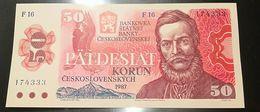 CECOSLOVACCHIA - 50 KORUN - CORONE - FIOR DI STAMPA - CARTAMONETA - PAPER MONEY - Tchécoslovaquie