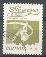 Nicaragua 1986. Scott #1516 (U) Brassavola Nodosa, Fleurs, Flowers - Nicaragua