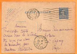 VAGNEY NANCY 1931   Entier Postal N° JJ 181 - Marcophilie (Lettres)