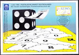 Deutschland Germany Allemagne - Fünfstellige PLZ  (MiNr: 1659) 1993 - Karte A5 !lesen/read/lire! - Non Classificati