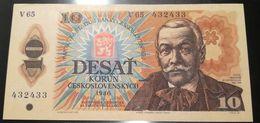 CECOSLOVACCHIA - 10 DVACET KORUN - 10 CORONE - FIOR DI STAMPA - CARTAMONETA - PAPER MONEY - Tchécoslovaquie