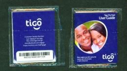GHANA  -  TIGO  Unused SIM Phonecard  In Pack  As Scans - Ghana