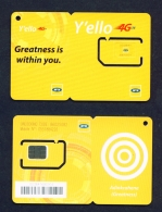 GHANA  -  Y'ello  Unused SIM Phonecard  As Scans - Ghana