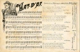Militaria - Carte Partition Parole Et Musique De La Chanson D'Aristide Bruant - Aux Bat-D'Af - Militaria