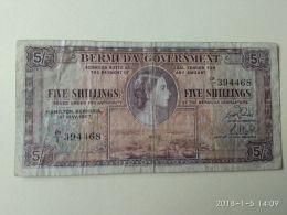 5 Shillings 1957 - Bermudas