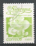 Nicaragua 1986. Scott #1518 (U) Cochospermum Spec, Fleurs, Flowers - Nicaragua