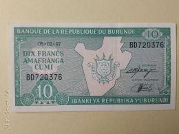 10 Francs 1997 - Burundi