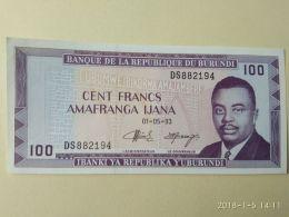 100 Francs 1993 - Burundi