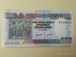 500 Francs 2009 - Burundi