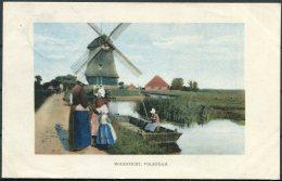 1915 Belgium WW1 Gemany Windmill Postcard K.D. Feldpost Marine Korps Fieldpost - WW I