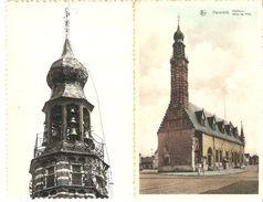 Herentals : Stadhuis Met Beiaard  ----  2 Kaarten - Herentals
