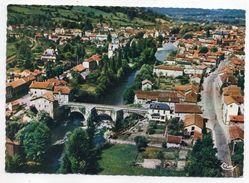 FIGEAC-1970--Vue Générale Aérienne-Pont Du Pin Et Pont Gambetta Sur Le Célé --timbre --cachet LACAPELLE-MARIVAL-46 - Figeac