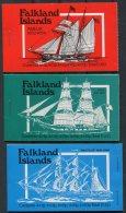 Falkland Islands 3 X Ship Booklets AMELIA HEBE NAUTILUS Complete MNH - Falkland Islands