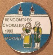 RENCONTRES CHORALES 1993 - MORGES - CANTON DE VAUD - SUISSE - CHANTS - CHANSONS    -    (19) - Music