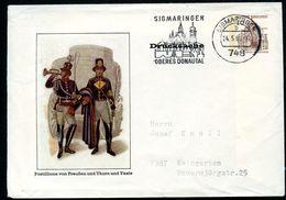 Bund PU23 B1/001a Privat-Umschlag POSTILLIONE Gebraucht Sigmaringen 1969  NGK 13,00€ - Post