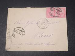 EGYPTE - Enveloppe Pour La France En 1891 , Cachet Ligne Bateau , Cachet D 'Alexandrie Au Verso - L 11338 - Égypte