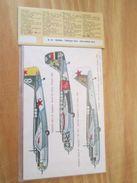 DEC514 Planche De Décals Additionnels ESCI Années 70/80 URSS 39/45 TUPOLEV SB-2 Et PETLYAKOV PE-2   Complète Et Non Comm - Transfer
