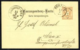 Correspondenz-Karte - MM N° 44, Aufdrückte Briefmark - Y & T N° 40 - BUCZACZ ( BOUTCHATSCH - UK) Nach WIEN - 12/8/1890. - Briefe U. Dokumente