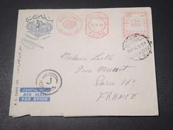 EGYPTE - Enveloppe Avec Affranchissement Mécanique D 'Hôtel Semiramis Au Caire En 1963 Pour Paris - L 11339 - Égypte