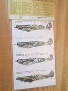 DEC514 Planche De Décals Additionnels ESCI Années 70/80 TYPHOON Et SPITFIRE  Complète Et Non Commencée , Permets De Réal - Transfer