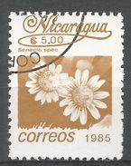 Nicaragua 1986. Scott #1524 (U) Senecio Spec, Fleurs, Flowers - Nicaragua