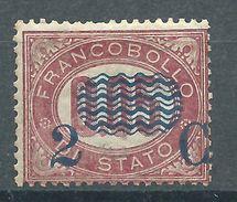 Italia 1878 Servizi Sovrastampati 2c Su 0,05 MNH** - 1861-78 Victor Emmanuel II