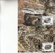 Republique Du Benin / 4 Maximumkaarten - Serpents