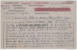 96 1690 ALGERIE BONE 1947 NOUVELLES GALERIES Confection AUGUSTE CAMILLERI Rue Neuve Saint Augustin - Unclassified