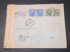 BRÉSIL - Enveloppe Recommandée De Rio Pour Paris En 1916 Avec Contrôle Postal - L 11346 - Cartas