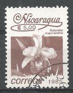 Nicaragua 1986. Scott #1525 (U) Sobralla Macrentha, Fleurs, Flowers - Nicaragua
