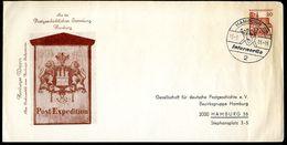 Bund PU25 B2/004b Privat-Umschlag POSTHAUSSCHILD HAMBURG 1965 Sost. NGK 7,00 € - Post