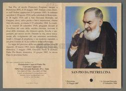 ES4582 S. San PIO DA PIETRELCINA APRIBILE CON RELIQUIA PADRE PIO Santino - Religione & Esoterismo