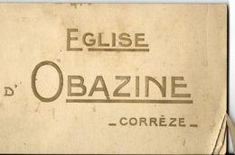 Carnet De Photos Ou Cartes Sur L'église Obazine En Corrèze 19000 - Dépliants Touristiques