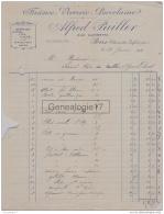 17 729 PONS CHARENTE MARITIME 1934 Faience Verrerie Porcelaine ALFRED PAILLER Rue Gambetta A  NADAUD De SAINT CIERS 33 - France