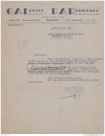 96 1702 ALGERIE CONSTANTINE 1938 GALERIES PARISIENNES Des Ets GUEDJ FILS - Unclassified
