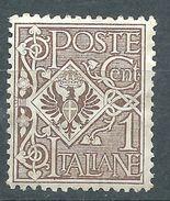 Italia 1901 Floreale 1 C MNH** - 1900-44 Victor Emmanuel III