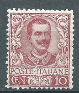 Italia 1901 Floreale 10 C MNH** (firmato) - 1900-44 Vittorio Emanuele III