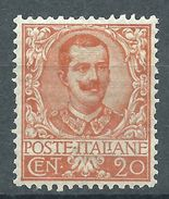 Italia 1901 Floreale 20 C MH* - Nuovi