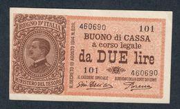2 Lire Buono Di Cassa Serie 101 14 03 1920 Sup/fds  LOTTO 065 - [ 1] …-1946 : Koninkrijk