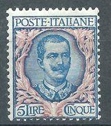 Italia 1901 Floreale 5 L MH* - Nuovi