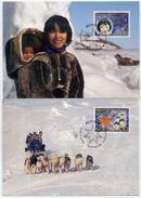 GREENLAND 1996 Christmas On Maximum Cards.  Michel 297-98 - Maximum Cards