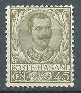 Italia 1901 Floreale 45 C MH* - Nuovi