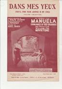 """PARTITION :"""" DANS MES YEUX """"VALSE CHANTE DU FILM MANUELA - ROMANCE OF RIO GRANDE -1930 - Partituras"""